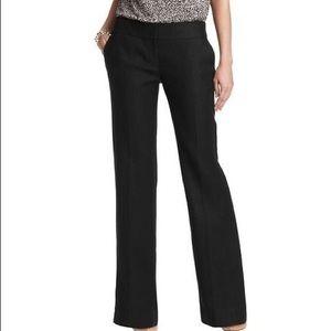 LOFT Laura Black Linen Satin Trouser Pant
